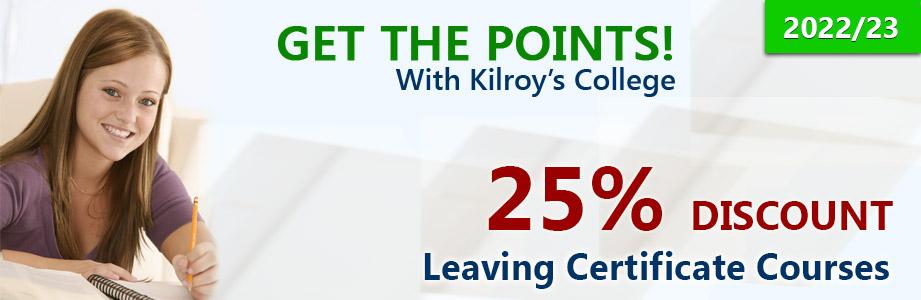 Kilroy's College Leaving Cert Offer